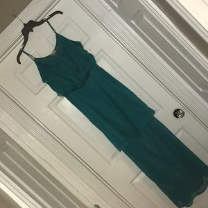 Love 21 Nordstrom maxi dress dark greenish teal